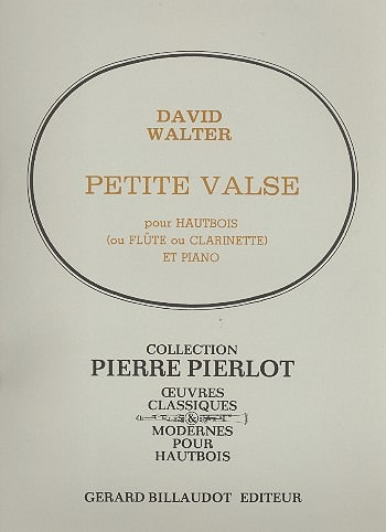 Petite valse - David Walter - Partition - Hautbois - laflutedepan.com
