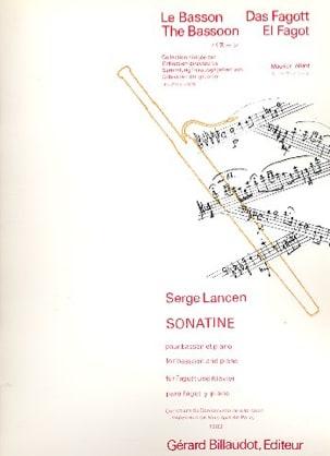 Sonatine pour basson et piano Serge Lancen Partition laflutedepan