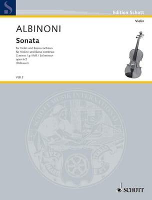 Sonate sol mineur op. 6 n° 2 ALBINONI Partition Violon - laflutedepan