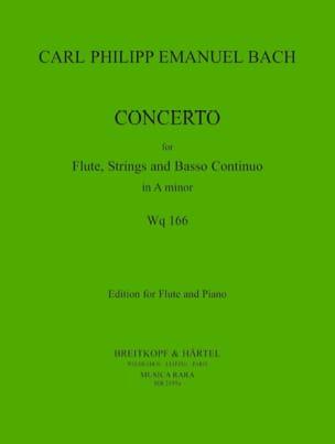 Concerto in A minor Wq 166 - Flute piano laflutedepan