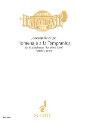 Homenaje a la Tempranica - Wind band - Score RODRIGO laflutedepan