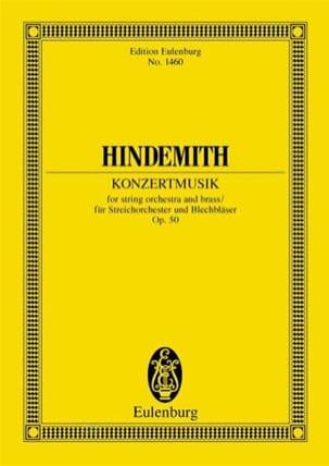 Konzertmusik, opus 50 HINDEMITH Partition Petit format - laflutedepan