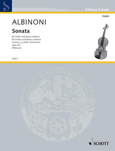 Sonate sol mineur op. 6 n° 2 - ALBINONI - Partition - laflutedepan.com