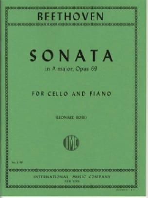 Sonata in A Major op. 69 - BEETHOVEN - Partition - laflutedepan.com