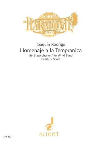 Homenaje a la Tempranica - Wind band - Score - laflutedepan.com