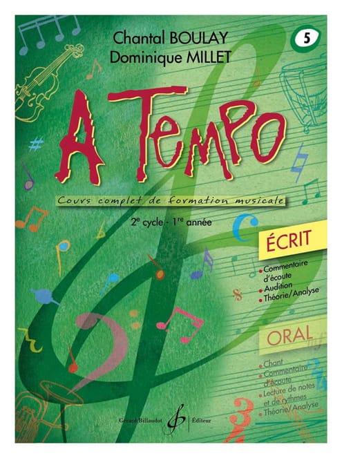 A Tempo Volume 5 - Ecrit - BOULAY - MILLET - laflutedepan.com