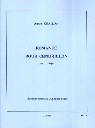 Romance pour Cendrillon Annie Challan Partition Harpe - laflutedepan