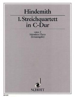 Streichquartett Nr. 1 op. 2 C-Dur HINDEMITH Partition laflutedepan