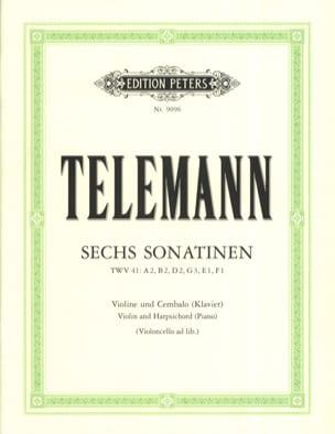 TELEMANN - 6 Sonatines - Partition - di-arezzo.co.uk