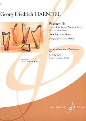 Passacaille - Harpe Celtique HAENDEL Partition Harpe - laflutedepan
