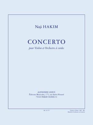 Concerto Pour Violon et Orchestre A Cordes Naji Hakim laflutedepan
