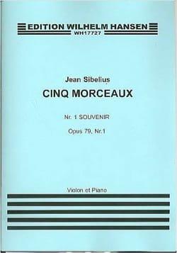 Souvenir op. 79/1 SIBELIUS Partition Violon - laflutedepan