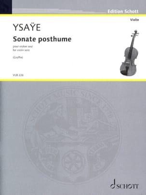 Sonate Posthume - Eugène Ysaÿe - Partition - Violon - laflutedepan.com