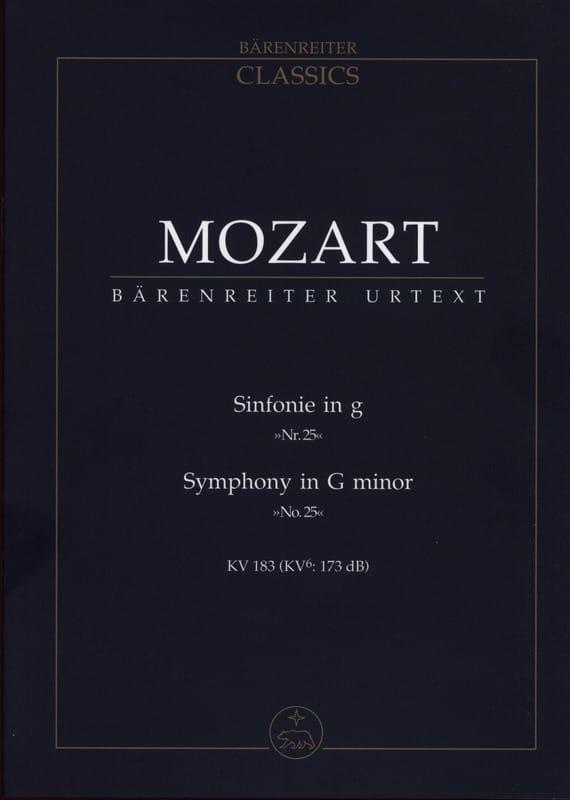 Symphonie Nr. 25 g-moll KV 183 - Partitur - MOZART - laflutedepan.com