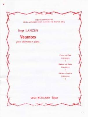 Vacances - Serge Lancen - Partition - Clarinette - laflutedepan.com