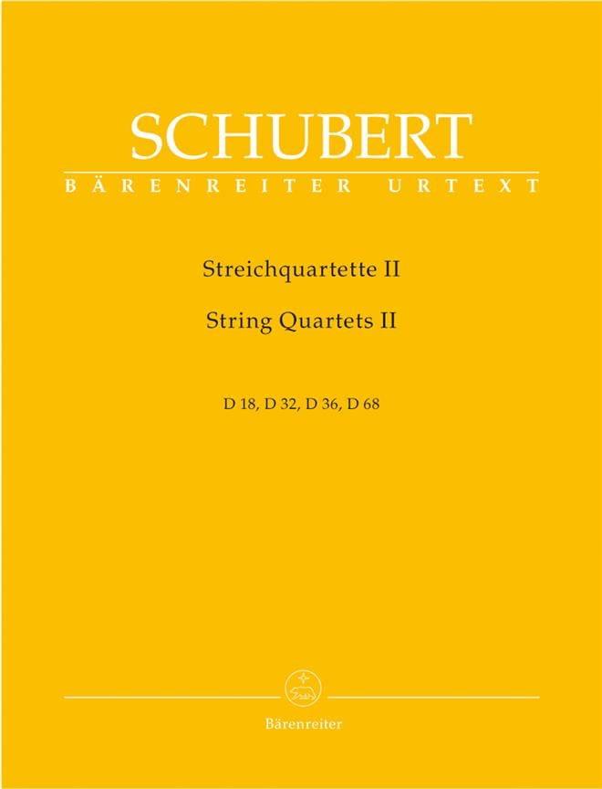 Streichquartette -Bd. 2 - Stimmen D. 18, 32, 36, 68 - laflutedepan.com