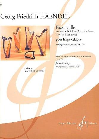 Passacaille - Harpe Celtique - HAENDEL - Partition - laflutedepan.com