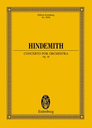 Concerto for orchestra, op. 38 - HINDEMITH - laflutedepan.com