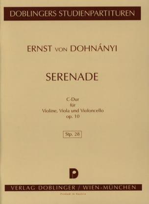 Serenade C-dur op. 10 - Partitur DONHANYI Partition laflutedepan