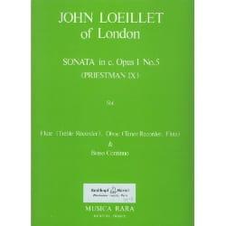 Sonata in c minor op. 1 n° 5 -Flute oboe Bc laflutedepan
