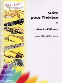 Suite Pour Thérèse Maurice Faillenot Partition laflutedepan