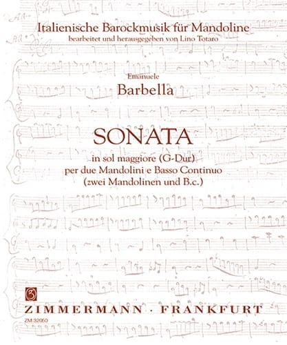 Sonata in sol maggiore -2 Mandolini e Bc - laflutedepan.com