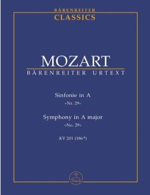 Symphonie Nr. 29 A-Dur KV 201 -Partitur MOZART Partition laflutedepan
