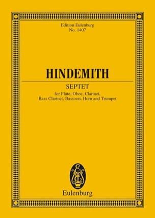Septett 1948 HINDEMITH Partition Petit format - laflutedepan