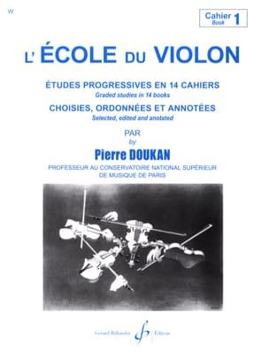 L' Ecole du Violon Volume 1 Pierre Doukan Partition laflutedepan