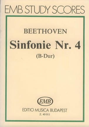 Symphonie n° 4 - Partitur BEETHOVEN Partition laflutedepan