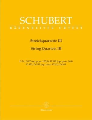 Quatuors à cordes -Volume 3 - Parties instrumentales - laflutedepan.com