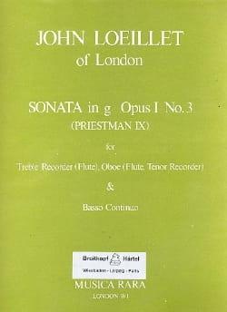 Sonata in g minor op. 1 n° 3 -Treble recorder Oboe Bc laflutedepan