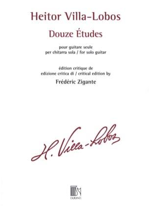 12 Etudes - Guitare VILLA-LOBOS Partition Guitare - laflutedepan