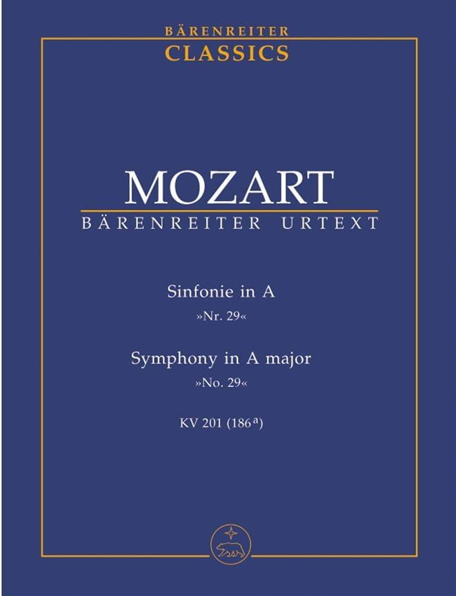 Symphonie Nr. 29 A-Dur KV 201 -Partitur - MOZART - laflutedepan.com