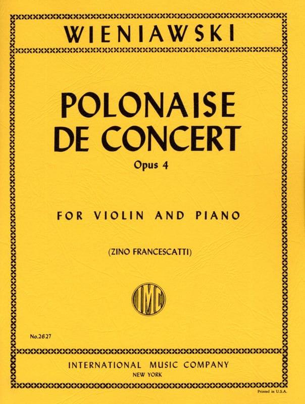 Polonaise de Concert Op. 4 En Re Majeur - WIENAWSKI - laflutedepan.com
