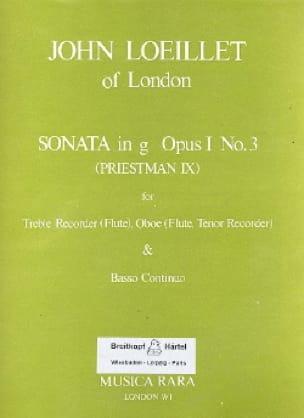 Sonata in g minor op. 1 n° 3 -Treble recorder Oboe Bc - laflutedepan.com
