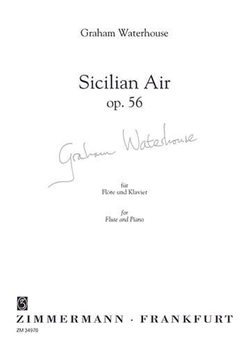 Sicilian air op. 56 - Graham Waterhouse - laflutedepan.com
