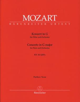Flötenkonzert G-Dur KV 313 - Partitur MOZART Partition laflutedepan