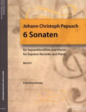 6 Sonates Volume 2 - Flûte A Bec Soprano et Piano laflutedepan