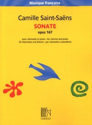 Sonate opus 167 SAINT-SAËNS Partition Clarinette - laflutedepan