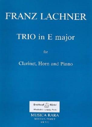 Trio en MI Majeur - Franz Lachner - Partition - laflutedepan.com