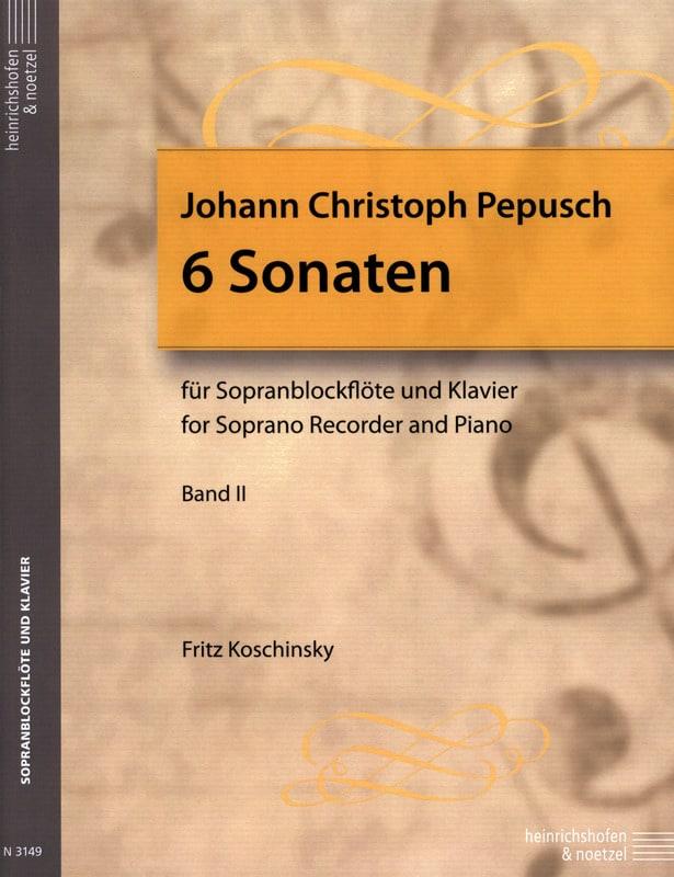 6 Sonates Volume 2 - Flûte A Bec Soprano et Piano - laflutedepan.com