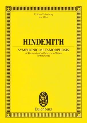 Symphonic Metamorphosis HINDEMITH Partition laflutedepan