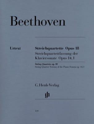 Quatuors à cordes op. 18 n° 1-6 BEETHOVEN Partition laflutedepan