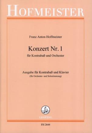 Kontrabass-Konzert n° 1 HOFFMEISTER Partition laflutedepan