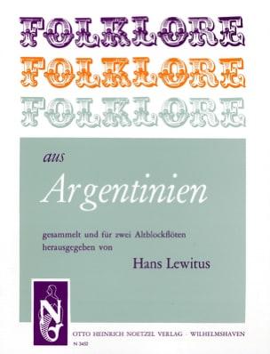 Folklore aus Argentinien - 2 Altblockflöten Hans Lewitus laflutedepan
