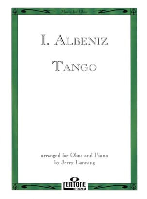 Tango - Oboe piano ALBENIZ Partition Hautbois - laflutedepan