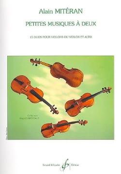 Petites musiques à deux Alain Mitéran Partition Violon - laflutedepan