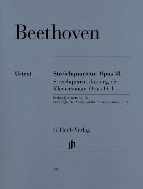 Quatuors à cordes op. 18 n° 1-6 - BEETHOVEN - laflutedepan.com
