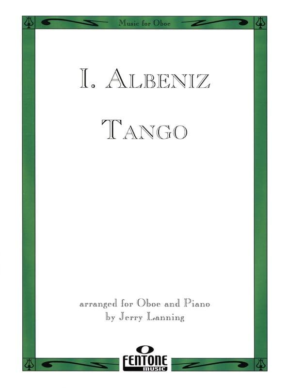 Tango - Oboe piano - ALBENIZ - Partition - Hautbois - laflutedepan.com